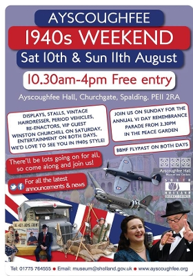 Ayscoughfee 1940's weekend poster