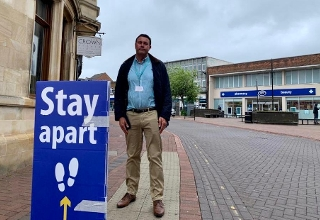 Councillor Gary Taylor in Spalding