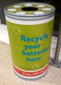 Batteries Recycling Bin 1